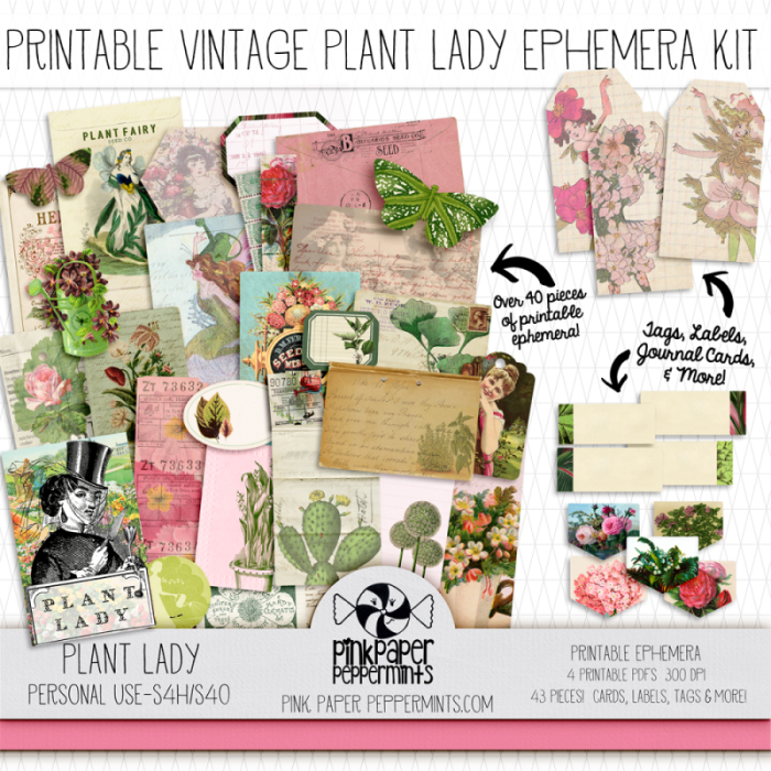 Plant Lady Traveler's Notebook Insert and Journaling kit!