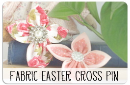 DIY Fabric Easter Cross pin
