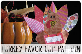 Free Thanksgiving Turkey Favor Craft