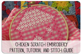 Chicken Scratch and Lace Embroidery Tutorial and Pattern