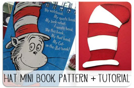 Cat in Hat Mini Book