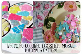 Recycled Easter Egg Shells Mosaic Craft Pattern and Tutorial