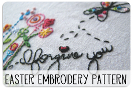 Printable Easter Embroidery Pattern