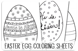 Printable Easter Egg Coloring Pages