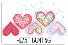 Free Printable Valentines Day Heart Bunting Pattern