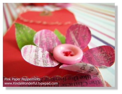 Recycled Newspaper Flower Tag
