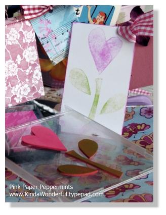 Foam Stamp Flower Tag