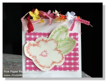 Watercolor Words Flower Card