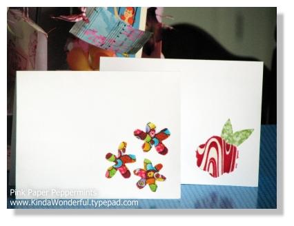 Fabric Applique Flower Card