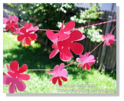 31 Crafty Flowers In 31 Days Tutorials Paper Punch Flower Garland