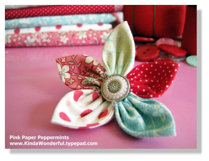 Five-Point Fabric Flower