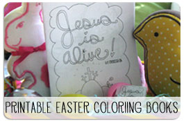 Printable Easter Jesus is Alive Coloring Books
