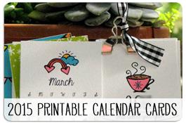 Free Printable 2015 Calendar Cards