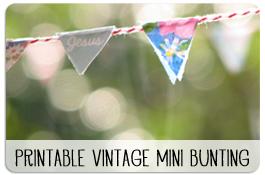 Free Printable Vintage Mini Bunting