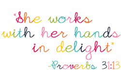 She Works With Her Hands In Delight