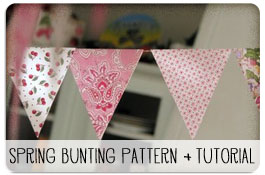 Spring Bunting Pattern and Tutorial