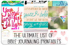 The Ultimate List of Free Bible Journaling Printbles