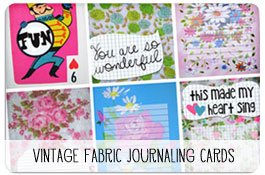 Printable Vintage Fabric Journaling Cards